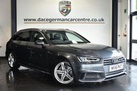"USED 2016 16 AUDI A4 AVANT 3.0 AVANT TDI S LINE 5DR AUTO 215 BHP Finished in a stunning metallic grey styled with 18"" alloys. Upon opening the drivers door you are presented with half leather interior, full service history, satellite navigation, bluetooth, heated seats, cruise control, sport seats, climate control, multi functional steering wheel, heated mirrors, parking sensors, ULEZ EXEMPT"