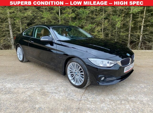 USED 2015 65 BMW 4 SERIES 2.0 420D LUXURY 2d 188 BHP STUNNING CONDITION -- LOW MILEAGE -- HIGH SPEC