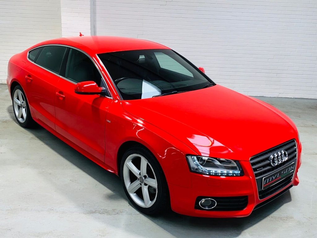 USED 2011 AUDI A5 2.0 SPORTBACK TDI QUATTRO S LINE 5d 168 BHP Quattro S-Line Mode, Black Leather Interior, Heated Seats, Bluetooth, Full Service History
