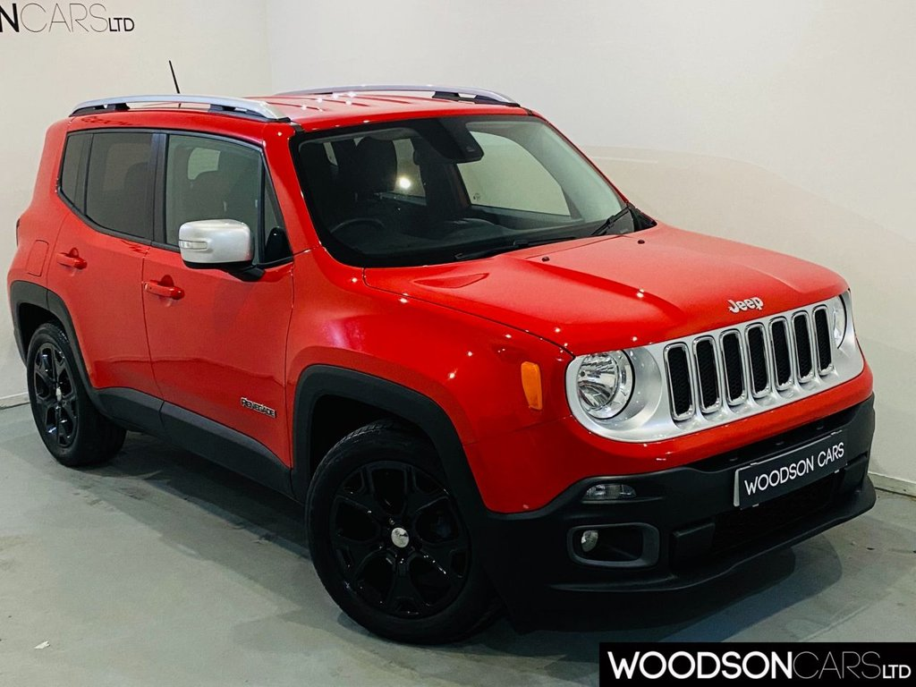 USED 2015 65 JEEP RENEGADE 1.4 LIMITED 5d 138 BHP Heated Leather Seats / Heated Steering Wheel / Sat Nav / Bluetooth / Gloss Black Alloy Wheels