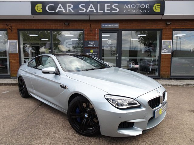 USED 2016 66 BMW M6 4.4 M6 2d 560 BHP DEMO+1 OWNER, ONLY 11K MILES, 560 BHP, SILVERSTONE II METALLIC WITH WHITE MERINIO LEATHER, SAT NAV, REVERSING CAMERA, BLUETOOTH, BMW SERVICE HISTORY, 12 MONTHS MOT, HPI CLEAR, 2 REMOTE KEYS