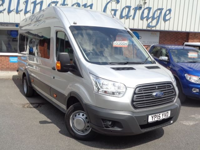 USED 2015 15 FORD TRANSIT 2.2 460 TREND H/R BUS 17 STR 124 BHP