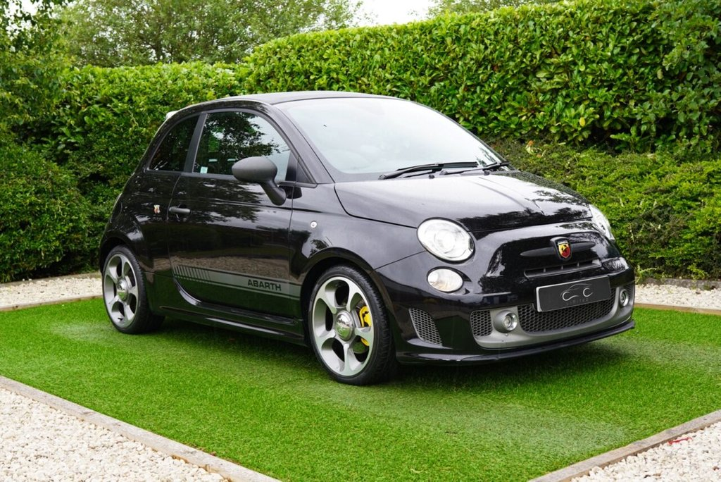 USED 2013 63 ABARTH 595 1.4 C COMPETIZIONE 3d 180 BHP FACTORY FITTED ESSEESSE 180BHP POWER UPGRADE Scorpion Black Metallic 500 Convertible at its Performance Best with Limited-slip Differential Koni FSD Dampers and Four Piston Yellow Brembo Brake Calipers+Drilled and Vented Discs with 180bhp and 0-62 in Just 6.7 Secs and Full Abarth Dealer Service History by Same Abarth Dealer Further Complemented by Optional Abarth Corsa Front Sports Seats in Leather Alcantara 17Inch Alloys Flat Bottomed Leather M/F Sports Steering Wheel Digital Dual Zone Climate