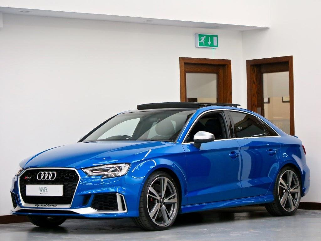 USED 2017 67 AUDI RS3 2.5 TFSI S Tronic quattro (s/s) 4dr PAN ROOF + SPORTS EX +ARA BLUE