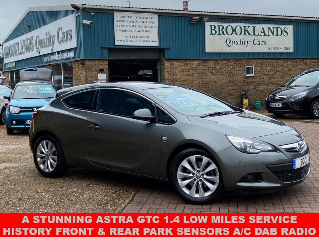 USED 2017 17 VAUXHALL ASTRA 1.4 GTC SRI S/S 3d Cosmic Grey Met. 19849 Miles Bluetooth Alloy Wheels 138 BHP  A Stunning Astra Gtc 1.4 Petrol Low Miles Service History, Front & Rear Parking Sensors AIR CON DAB RADIO