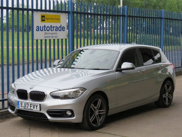 USED 2017 17 BMW 1 SERIES 2.0 118D SPORT 5d 147 BHP SAT NAV, FRONT AND REAR SENSORS ULEZ COMPLIANT SAT NAV, BMW SERVICE HISTORY, FRONT AND REAR PARKING SENSORS, CRUISE CONTROL, DAB, BLUETOOTH, ALLOYS