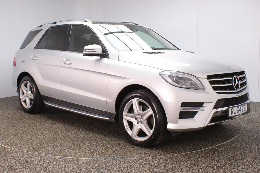 USED 2015 64 MERCEDES-BENZ M-CLASS 2.1 ML250 BLUETEC AMG LINE PREMIUM 5DR AUTO 204 BHP FULL SERVICE HISTORY + HEATED HALF LEATHER SEATS + PANORAMIC ROOF + SATELLITE NAVIGATION + REVERSE CAMERA + ACTIVE PARK ASSIST + BLUETOOTH + CLIMATE CONTROL + MULTI FUNCTION WHEEL + ELECTRIC/MEMORY FRONT SEATS + ELECTRIC WINDOWS + ELECTRIC/MEMORY DOOR MIRRORS + 20 INCH ALLOY WHEELS