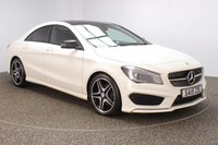 USED 2015 15 MERCEDES-BENZ CLA 1.6 CLA180 AMG SPORT 4DR 122 BHP FULL MERCEDES SERVICE HISTORY + HALF LEATHER SEATS + PANORAMIC ROOF + SATELLITE NAVIGATION + PARKING SENSOR + BLUETOOTH + CRUISE CONTROL + CLIMATE CONTROL + MULTI FUNCTION WHEEL + XENON HEADLIGHTS + PRIVACY GLASS + ELECTRIC WINDOWS + ELECTRIC MIRRORS + 18 INCH ALLOY WHEELS
