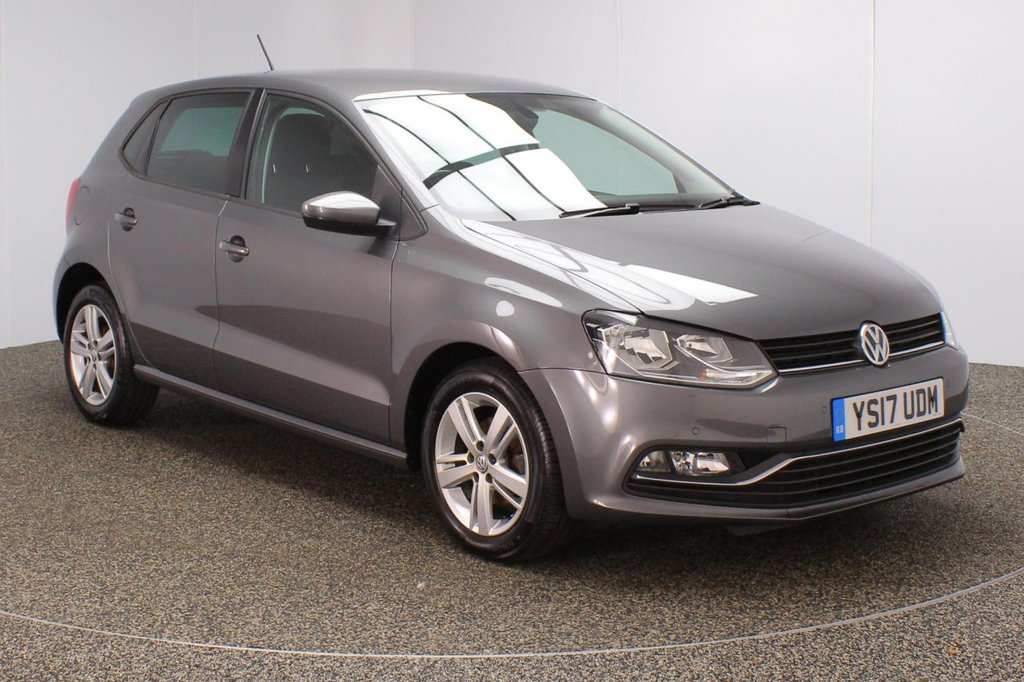 USED 2017 17 VOLKSWAGEN POLO 1.4 MATCH EDITION TDI 5DR 1 OWNER 74 BHP SERVICE HISTORY + PARKING SENSOR + BLUETOOTH + CRUISE CONTROL + MULTI FUNCTION WHEEL + DAB RADIO + AIR CONDITIONING + RADIO/CD/AUX/USB/SD + PRIVACY GLASS + ELECTRIC WINDOWS + ELECTRIC/HEATED/FOLDING DOOR MIRRORS + 15 INCH ALLOY WHEELS