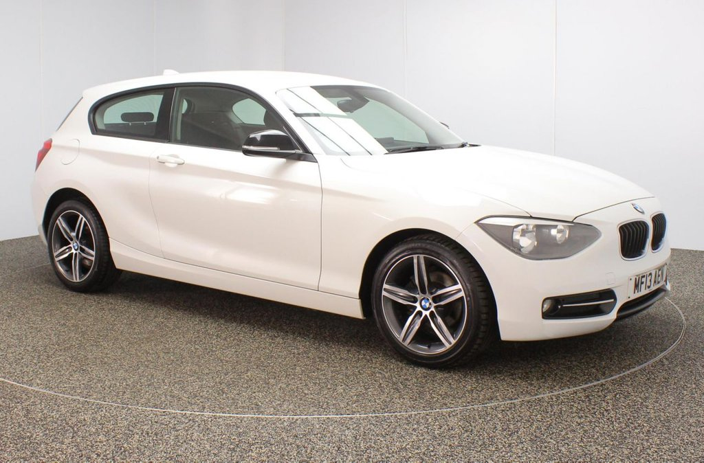 USED 2013 13 BMW 1 SERIES 1.6 114I SPORT 3DR 101 BHP SERVICE HISTORY + BLUETOOTH + MULTI FUNCTION WHEEL + AIR CONDITIONING + DAB RADIO + RADIO/CD/AUX/USB + ELECTRIC WINDOWS + ELECTRIC MIRRORS + 17 INCH ALLOY WHEELS
