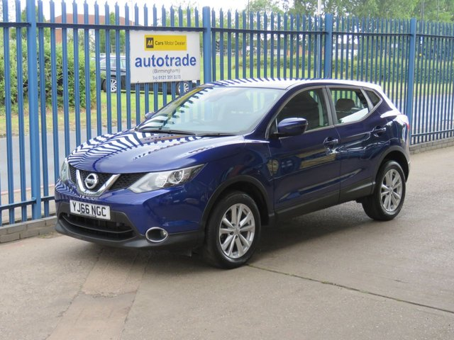 USED 2017 66 NISSAN QASHQAI 1.2 ACENTA DIG-T SMART VISION 5d 113 BHP Front - Rear Park Assist & Nissan History