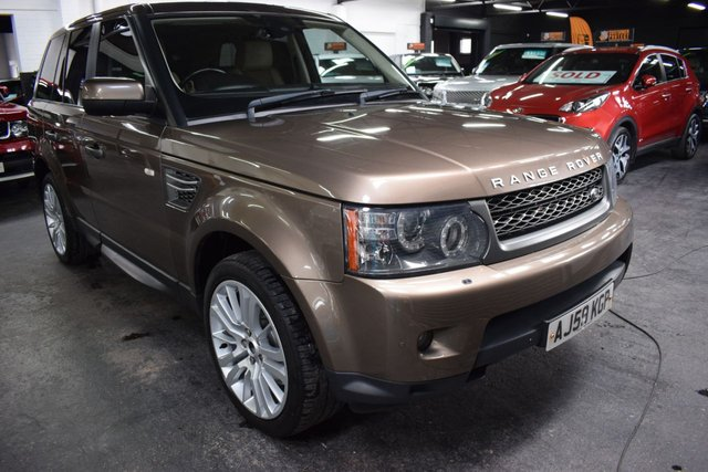 USED 2009 59 LAND ROVER RANGE ROVER SPORT 3.0 TDV6 HSE 5d 245 BHP RARE NARA BRONZE - HSE - KEYLESS ENTRY - R/CAMERA - EXT LEATHER - PRIVACY GLASS - 20 INCH ALLOYS
