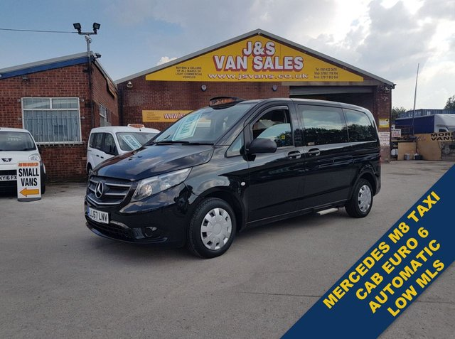 USED 2017 67 MERCEDES-BENZ VITO MPV MINIBUS  PLUS LONDON 136 BHP ( TAXI CAB + VAT ) LONDON TAXI M8 AUTO WHEEL CHAIR ACCESS