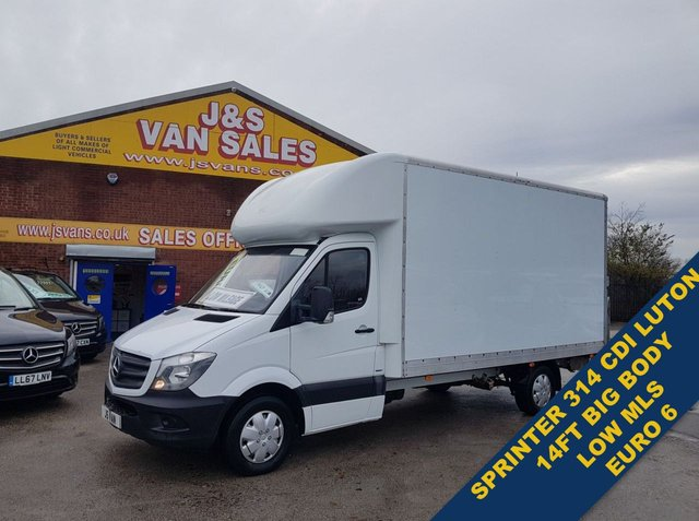 USED 2017 17 MERCEDES-BENZ SPRINTER LUTON LWB 314 VAN  LOW MLS 82K TAILIFT BIG BODY BIG STOCK EURO 6 OVER VANS OVER 100 ON SITE