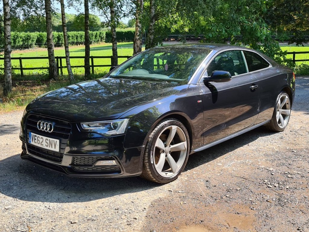 USED 2012 62 AUDI A5 2.0 TDI BLACK EDITION 2d 177 BHP +++F/S/H INC CAMBELT+++