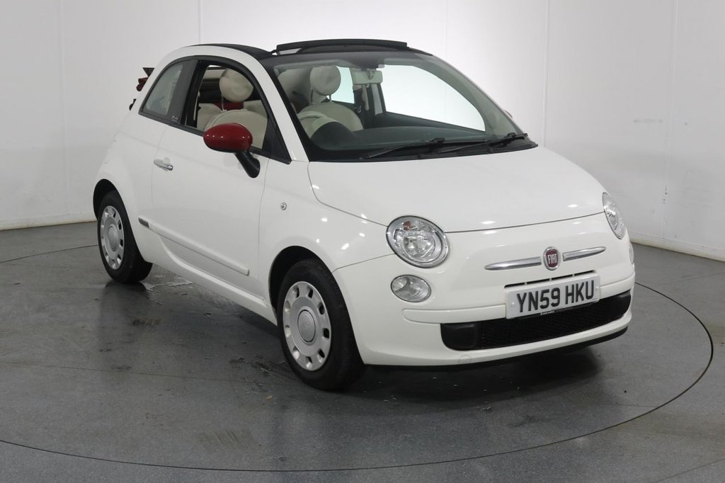 USED 2009 59 FIAT 500 1.2 CONVERTIBLE POP 3d 69 BHP