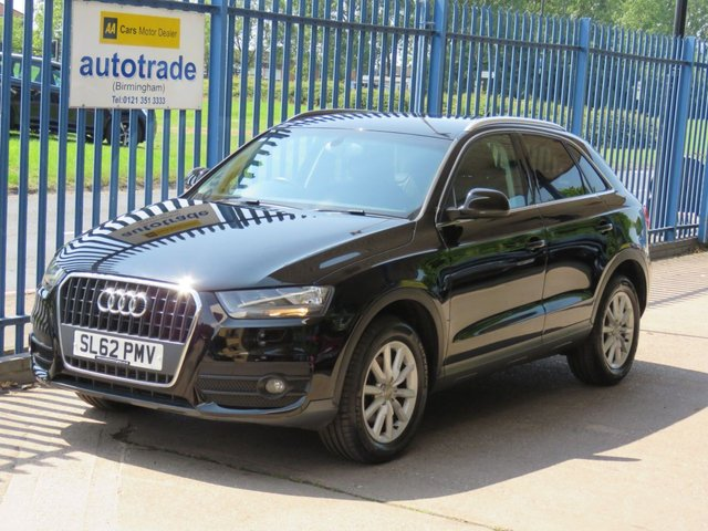 USED 2012 62 AUDI Q3 2.0 TDI SE 5d 138 BHP, SAT NAV, REAR PARKING SENSORS, BLUETOOTH, AUDI HISTORY SATELLITE NAVIGATION, BLUETOOTH, REAR PARKING SENSORS, AUDI SERVICE HISTORY, PRIVACY GLASS