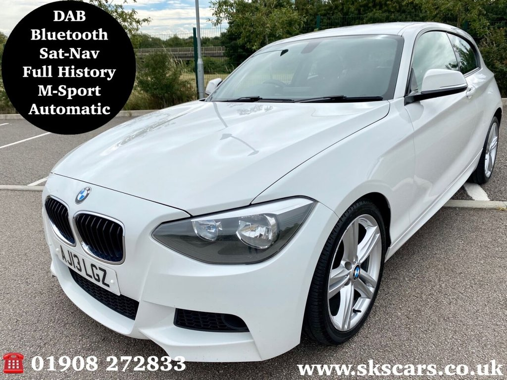 USED 2013 13 BMW 1 SERIES 2.0 118D M SPORT 3d 141 BHP **6 MONTHS NATIONAL WARRANTY**