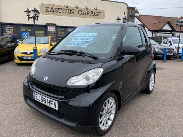 USED 2009 58 SMART FORTWO CABRIO 1.0 PASSION MHD 2d 71 BHP