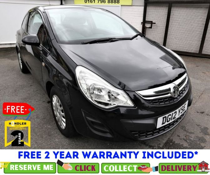 USED 2012 12 VAUXHALL CORSA 1.0 S ECOFLEX 3d 64 BHP *CLICK & COLLECT OR DELIVERY