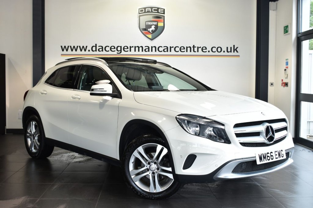 "USED 2017 66 MERCEDES-BENZ GLA-CLASS 2.1 GLA 200 D SPORT EXECUTIVE 5DR AUTO 134 BHP Finished in a stunning calcite white styled with 18"" alloys. Upon opening the drivers door you are presented with full leather interior, full service history, satellite navigation, bluetooth, panoramic sliding sunroof, cruise control, reversing camera, smartphone integration package, rain sensors, multi functional steering wheel, attention assist, privacy glass, climate control, active park assist"