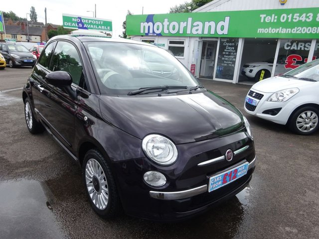 USED 2012 62 FIAT 500 1.2 LOUNGE 3d 69 BHP ***JUST ARRIVED...***NO DEPOSIT DEALS..IDEAL FIRST CAR