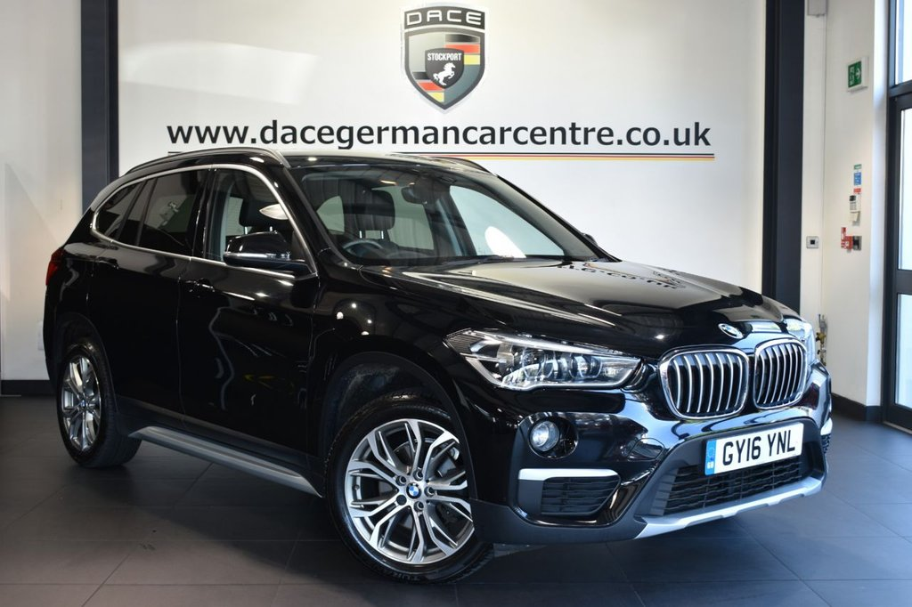"""USED 2016 16 BMW X1 2.0 SDRIVE18D XLINE 5DR 148 BHP Finished in a stunning black styled with 18"""" alloys. Upon opening the drivers door you are presented with leather interior, full service history, satellite navigation, bluetooth, heated seats,, LED headlight with extended scopes, Multifunction  steering wheel, Automatic air conditioning, parking sensors"""