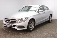 USED 2018 18 MERCEDES-BENZ C-CLASS 2.0 C200 SE 4DR 184 BHP LEATHER SEATS + REVERSE CAMERA + BLUETOOTH + CRUISE CONTROL + MULTI FUNCTION WHEEL + AIR CONDITIONING + DAB RADIO + ELECTRIC WINDOWS + ELECTRIC MIRRORS + 16 INCH ALLOY WHEELS