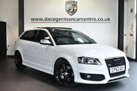 "USED 2013 62 AUDI S3 2.0 SPORTBACK TFSI QUATTRO BLACK EDITION 5DR AUTO 265 BHP Finished in a stunning white styled with 18"" alloys. Upon opening the drivers door you are presented with full leather interior, satellite navigation, panoramic sunroof, bluetooth, heated sport seats, xenon lights, BOSE surround sound speakers, cruise control, multi functional steering wheel, heated mirrors, parking sensors"