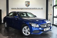 """USED 2017 17 MERCEDES-BENZ C-CLASS 2.1 C 220 D SE EXECUTIVE EDITION 4DR AUTO 170 BHP Finished in a stunning brilliant metallic blue styled with 17"""" alloys. Upon opening the drivers door you are presented with full black leather interior, satellite navigation, bluetooth, heated seats, reversing camera, cruise control, rain sensors, touchpad with rotary pushbutton, DAB radio, active park assist"""
