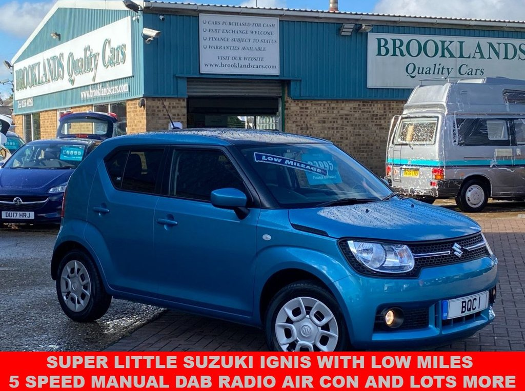 USED 2017 17 SUZUKI IGNIS 1.2 SZ3 DUALJET 5 Door Neon Blue Met.  Only done 12,587 miles 89 BHP Super Little Suzuki Ignis with Low Miles 5 Speed Manual DAB Radio Air Con and lots more