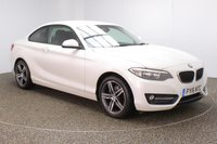 USED 2016 16 BMW 2 SERIES 2.0 220D SPORT 2DR 1 OWNER AUTO 188 BHP SERVICE HISTORY + £20 12 MONTHS ROAD TAX + LEATHER SEATS + SATELLITE NAVIGATION + ACTIVE PARK ASSIST + PARKING SENSOR +BLUETOOTH + AIR CONDITIONING + MULTI FUNCTION WHEEL + DAB RADIO + RADIO/CD/AUX/USB + ELECTRIC WINDOWS + ELECTRIC MIRRORS + 17 INCH ALLOY WHEELS