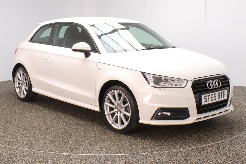 USED 2015 65 AUDI A1 1.4 TFSI S-LINE 3DR 148 BHP + LEATHER + AUDI SERVICE HISTORY + £30 12 MONTHS ROAD TAX + HALF LEATHER SEATS + BLUETOOTH + MULTI FUNCTION WHEEL + AIR CONDITIONING + DAB RADIO + XENON HEADLIGHTS + RADIO/CD/SD + ELECTRIC WINDOWS + ELECTRIC/HEATED DOOR MIRRORS + 17 INCH ALLOY WHEELS