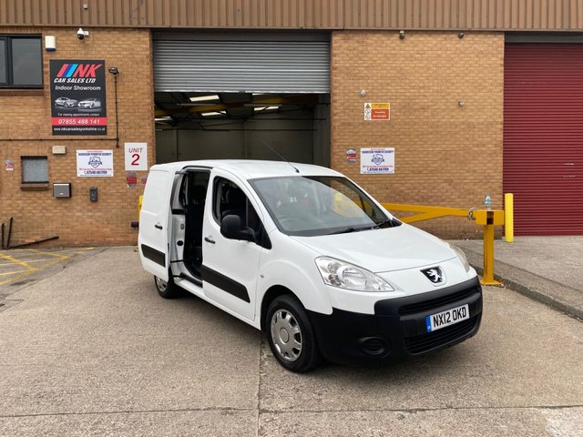 2012 12 PEUGEOT PARTNER 1.6 HDI CRC 90 BHPV A RARE CREW CAB MODEL NO VAT TWIN SLIDING DOORS SOLD TO GAVIN FROM SHEFFIELD
