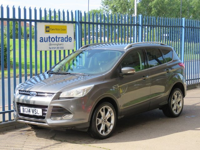 """USED 2014 14 FORD KUGA 2.0 TITANIUM TDCI 2WD 5dr 1/2 Leather DAB Cruise Bluetooth & audio 1/2 Leather, Air con, Privacy Glass, Appearance Pack,  19"""" Alloys, Cruise, Climate Control, Sony Dab and Bluetooth."""