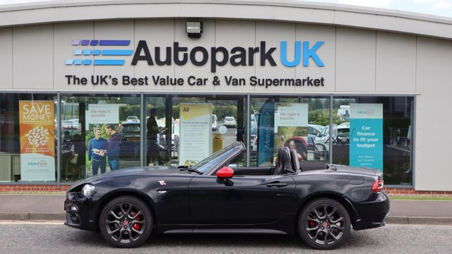 USED 2017 67 ABARTH 124 1.4 SPIDER MULTIAIR 2d 168 BHP LOW DEPOSIT OR NO DEPOSIT FINANCE AVAILABLE