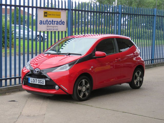 USED 2017 17 TOYOTA AYGO 1.0 VVT-I X-CLUSIV 3 SAFETY SENSE 5d 69 BHP full leather interior, dab and bluetooth, car play, android auto, cruise control, keyless entry, push button start, privacy glass,