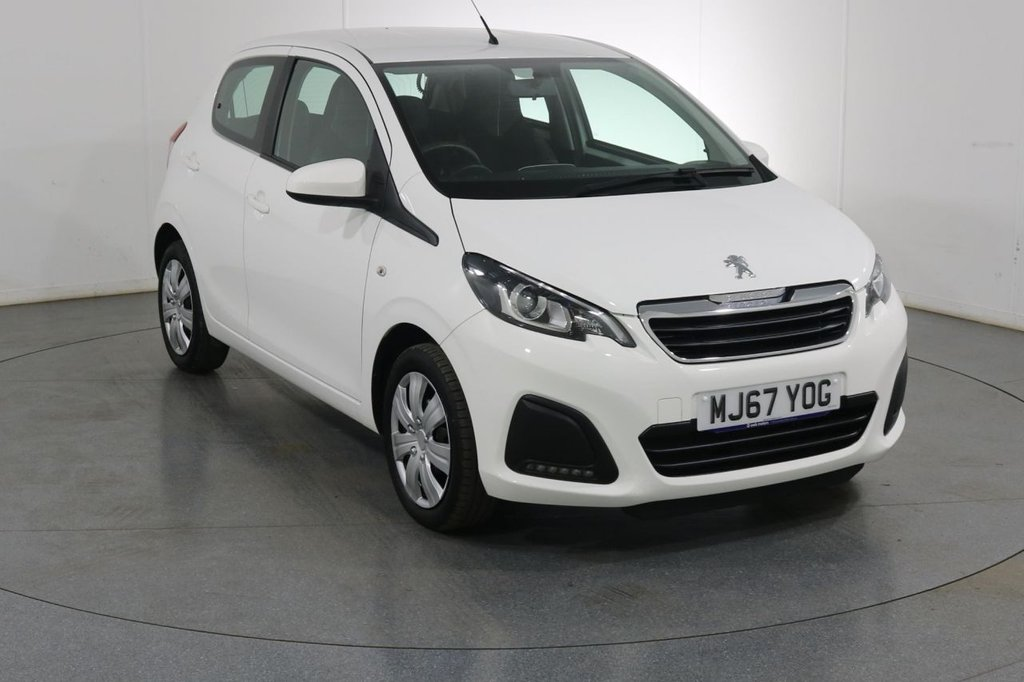 USED 2017 67 PEUGEOT 108 1.0 ACTIVE 5d 68 BHP ONE OWNER with PEUGEOT SERVICE HISTORY