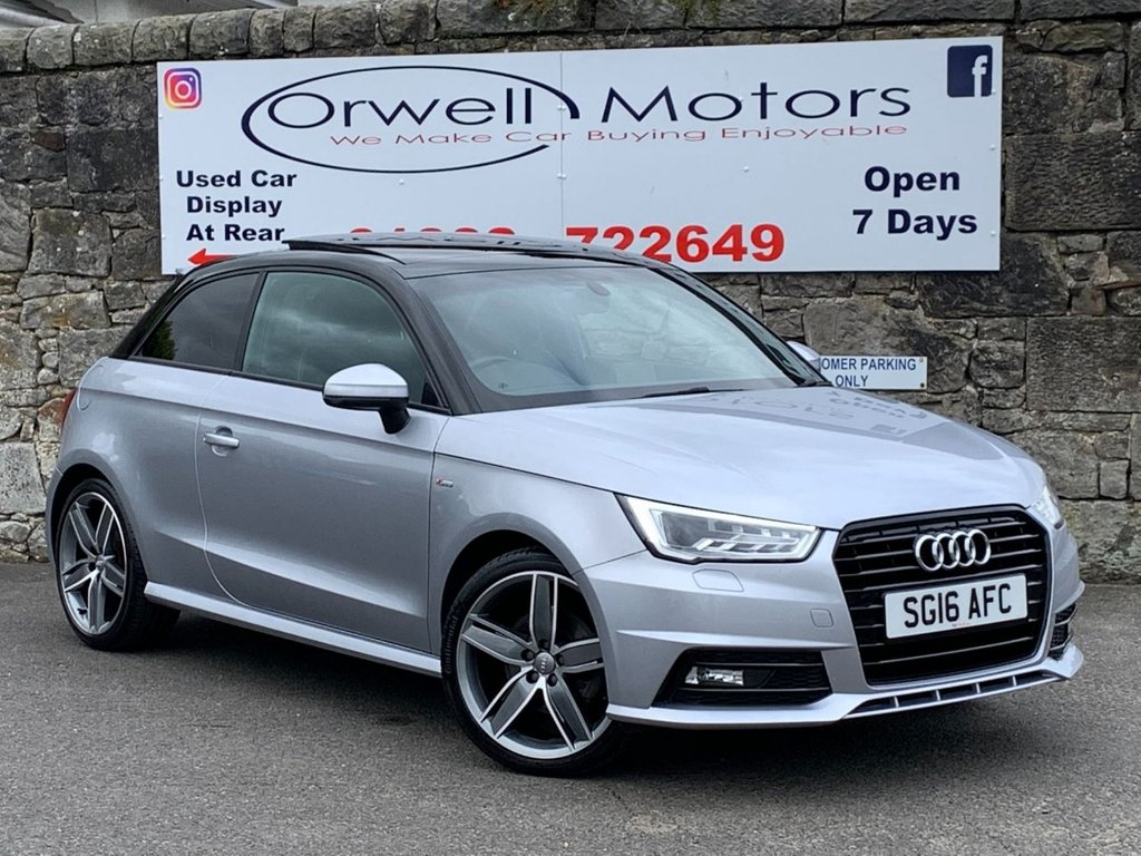USED 2016 16 AUDI A1 1.6 TDI BLACK EDITION 3d 114 BHP ELECTRIC PANORAMIC ROOF+CRUISE CONTROL+18 INCH ALLOY WHEELS+FULL AUDI HISTORY+1 OWNER