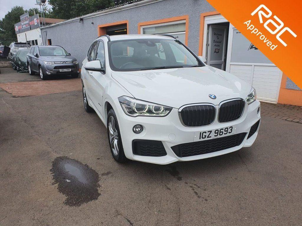 "USED 2018 BMW X1 2.0 XDRIVE20D M SPORT 5d 188 BHP Full Leather, Heated Seats, Colour Sat Nav, 18"" Alloys, Rear Parking Sensors, Bluetooth, 18"" Alloys"
