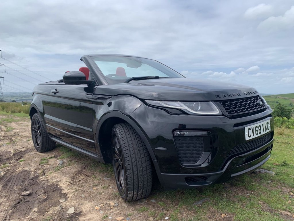 USED 2018 68 LAND ROVER RANGE ROVER EVOQUE 2.0 TD4 HSE DYNAMIC 3d 177 BHP Black and Red