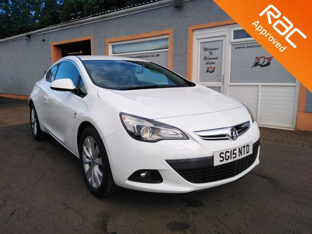 """USED 2015 15 VAUXHALL ASTRA 1.4 GTC SRI S/S 3d 138 BHP 18"""" Alloys, Cruise Control, Cd player, 4 Service Stamps"""