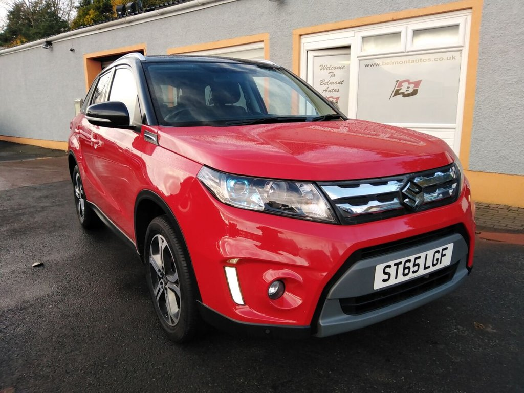 USED 2015 65 SUZUKI VITARA 1.6 SZ5 5d 118 BHP 1/2 Leather, Bluetooth, Rear Parking Sensors, Panoramic Glass Roof, Touchscreen Sat Nav , 4 Service Stamps