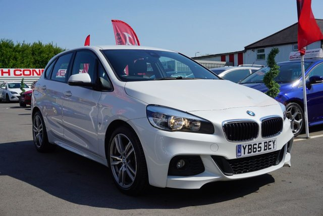 USED 2015 65 BMW 2 SERIES 1.5 216D M SPORT ACTIVE TOURER 5d 114 BHP FULL LEATHER, DEALER HISTORY