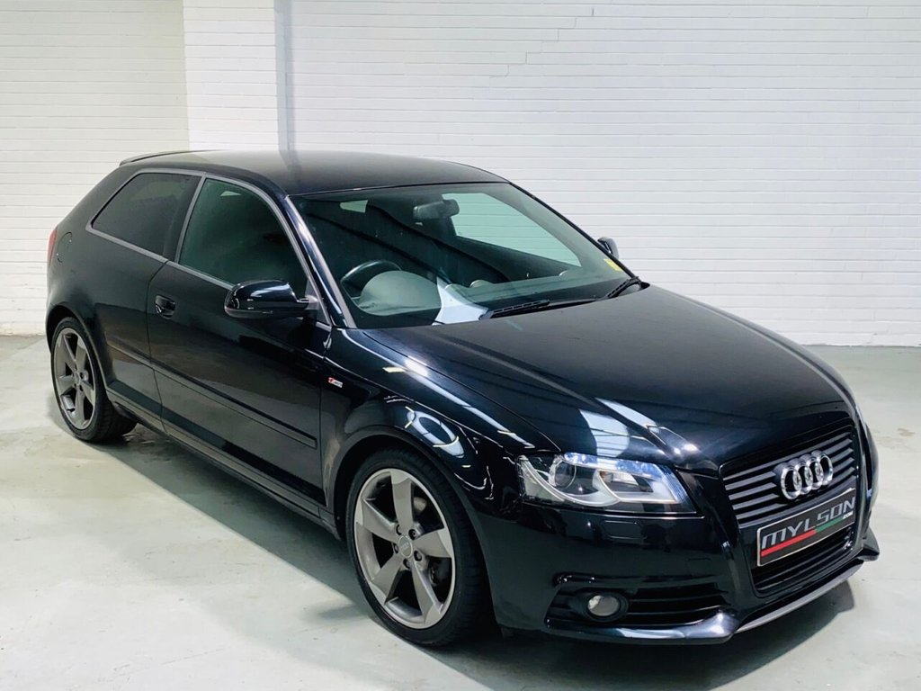 USED 2011 60 AUDI A3 2.0 TDI S LINE SPECIAL EDITION 3d 138 BHP Rare Auto Black Edition, BOSE Audio System, Privacy Glass, Leather Trim, LED Lights, Rotor Arm Wheels