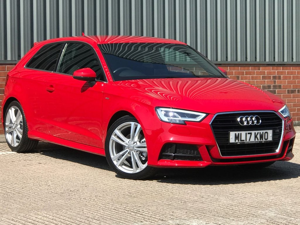 USED 2017 17 AUDI A3 1.4 TFSI S LINE 3d 148 BHP EXCELLENT LOW MILEAGE EXAMPLE