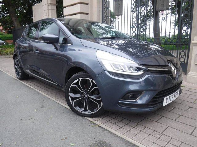 USED 2017 17 RENAULT CLIO 1.5 DYNAMIQUE S NAV DCI 5d 89 BHP *** FINANCE & PART EXCHANGE WELCOME *** DIESEL AUTOMATIC £ 0 FREE ROAD TAX  HALF LEATHER SAT/NAV BLUETOOTH PHONE DAB RADIO AUX & USB