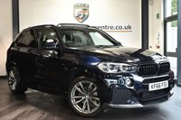 "USED 2017 17 BMW X5 3.0 XDRIVE30D M SPORT 5DR AUTO 255 BHP Finished in a stunning carbon black styled with 20"" alloys. Upon opening the drivers door you are presented with full leather interior, full service history, pro satellite navigation, bluetooth, Xenon Lights, panoramic sliding sunroof, reversing camera, heated sport seats with memory, Light package, LED Fog lights, Headlight cleaning system, Auxiliary heating/ventilation, parking sensors"