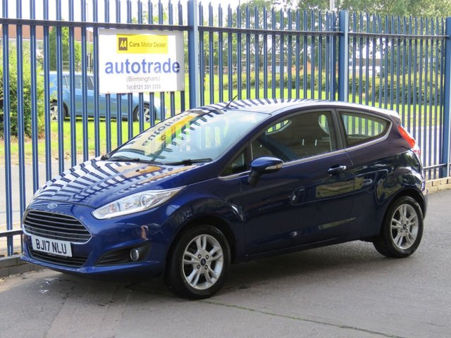 USED 2017 17 FORD FIESTA 1.2 ZETEC 3d 81 BHP SAT NAV, BLUETOOTH, DAB, ULEZ COMPLIANT SAT NAV, DAB, BLUETOOTH, ALLOYS, AIR CONDITIONING, HEATED WINDSCREEN, HISTORY