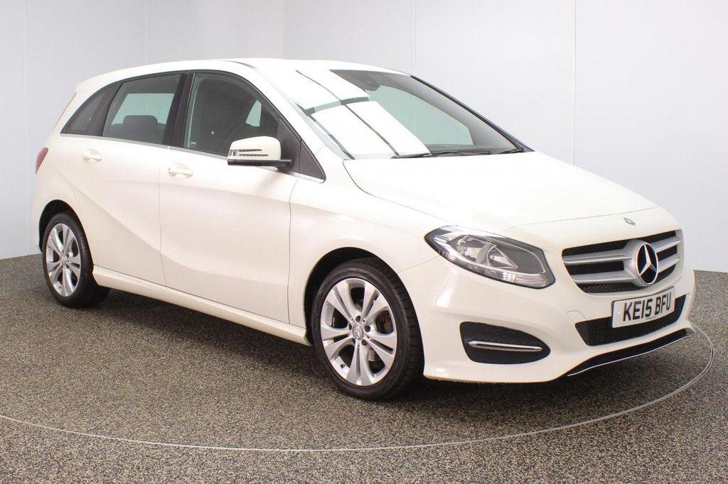 USED 2015 15 MERCEDES-BENZ B-CLASS 1.5 B180 CDI SPORT 5DR 107 BHP FULL SERVICE HISTORY + £20 12 MONTHS ROAD TAX + LOW MILEAGE + LEATHER SEATS + REVERSE CAMERA + BLUETOOTH + MULTI FUNCTION WHEEL + AIR CONDIIONING + RADIO/CD/USB + ELECTRIC WINDOWS + ELECTRIC/HEATED DOOR MIRRORS + 17 INCH ALLOY WHEELS